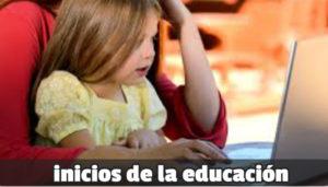 la historia de la educación se remonta a las madres como imparten un aprendizaje a sus hijos por medio delmodelamiento