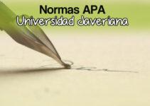 ¿Cómo citar normas APA universidad Javeriana?