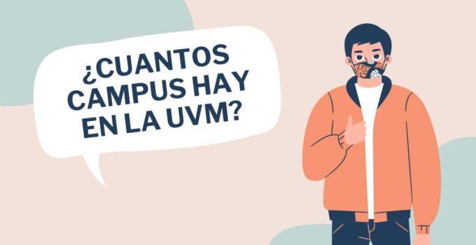 ¿Cuántos campus UVM hay en México?