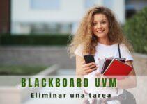 Cómo eliminar una tarea en Blackboard UVM
