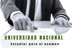 ¿Qué estudiar para el examen de la Universidad Nacional?