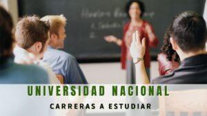 ¿Qué carreras hay en la Universidad Nacional de Colombia?