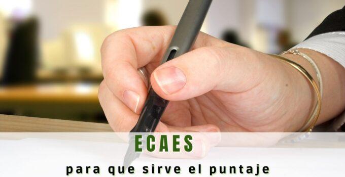 ¿Para qué sirve el puntaje ECAES?